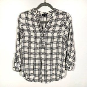 The Limited Black & White Square Print Button Down
